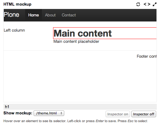 Insert Plone content into an HTML template using Diazo's theme editor