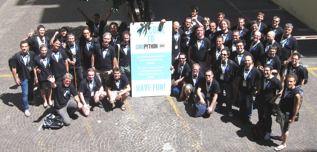 Plone attendees at EuroPython 2012