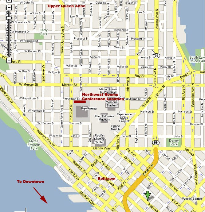 Map of Queen Anne and Belltown