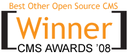 """Plone Wins Packt Publishing's 2008 """"Best Other Open-Source CMS"""" Award"""