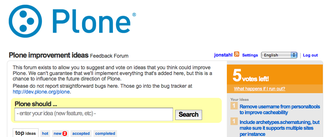 Plone launches user feedback system