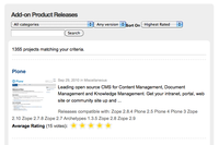"""Introducing Plone.org's New """"Downloads"""" Section: Comments, Ratings, Screenshots and More!"""