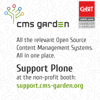 Plone at CMS-Garden on CeBIT 2013