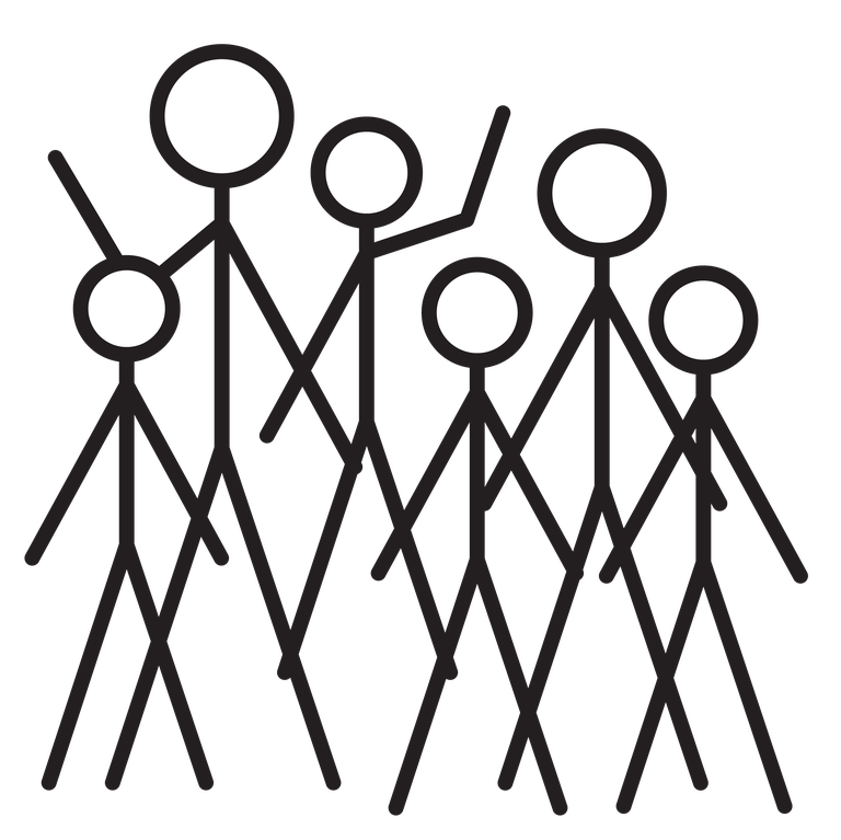 Crowd of Stick Figures